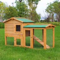 Wooden pet house rabbit cage rainproof roof 06-0034 Rabbit Cage & Wood, Wooden Rabbit House 1.5*3.8cm SPF frame