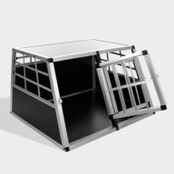 Aluminum Dog cage Large Single Door Dog cage 75a Special 66 06-0769 Aluminum Dog cage: Pet Products, Dog Goods Large Single Door Dog cage 75a Special 66