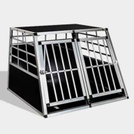 Aluminum Large Double Door Dog cage 65a 06-0773 Aluminum Dog cage: Pet Products, Dog Goods Large Double Door Dog cage 65a