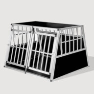 Aluminum Large Double Door Dog cage With Separate board 65a 104 06-0776 Aluminum Dog cage: Pet Products, Dog Goods Large Double Door Dog cage With Separate board 65a 104