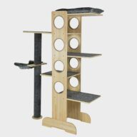 Pet Cat Furniture, natur wood cat tree 06-0194