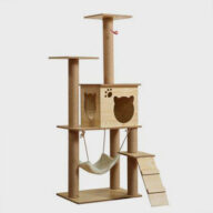 Pet, Cat ,Premium Cat Tree New Product 135cm Solid Wood Cat Tree