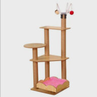 Pet Cat Tree Tower Multi-level Luxury Natural Wooden Cat Condo Tree House Furniture