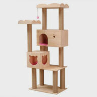 Pet Cat Tree Condo Suppliers OEM Soild Wood Sisal Rope Cat Tree House