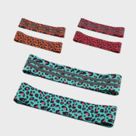 Custom New Product Leopard Squat With Non-slip Latex Fabric Resistance Bands Fitness Equipment (10) 10mm NBR Yoga Mat